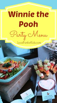 Winnie the Pooh - Easy Menu for Baby Shower, Birthday Party, Afternoon Tea.