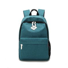 c46181183ac16 2016 Fashion Dual Function Women Backpack Men Unisex Canvas Casual Travel  Rucksack Solid Student School Bag for Teenagers