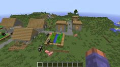 Cool Minecraft flat land, plains seed 1.8.2, 1.8 Good for building npc village [2015]