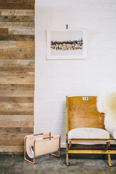 rustic decor // wood paneled walls // leather chair // home decor