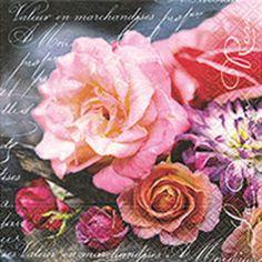 La vie en rose Decoupage Vintage, Decoupage Paper, Napkins Set, Paper Napkins, Color Rosa, Spring Flowers, Paper Design, Paper Art, Craft Projects