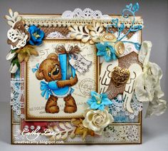 New card using Cocco with Present available at Magnolia-licious http://magnoliastamps.us/store2/ by Cathy Lee of Cathy's Creative Place #cards #crafts #magnolia