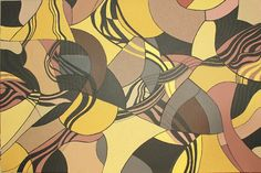 Original Textured Acrylic Brown Gold Black by LauraWilsonGallery