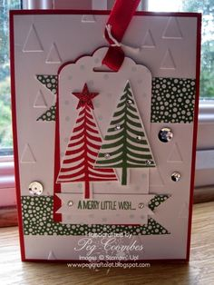 Stampin Up UK Demonstrator UK Pegcraftalot Order Stampin Up HERE: Festival of Trees and Scallop Tag Punch - Stampin' Up!