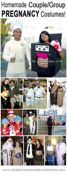 Cool Homemade Costume Ideas for a Pregnant Couple or Even the Entire Family!