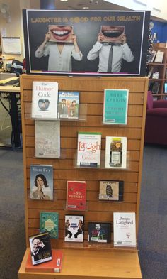 Relieve some holiday stress and have a laugh - it's good for your health! School Library Displays, Library Themes, Library Ideas, Gardner Webb, Reading Display, Middle School Books, Library Quotes, Jesus Funny, Library Bulletin Boards