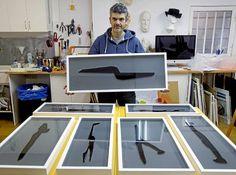 Eduardo Alonso Rico posa en su taller de Valladolid junto a las obras que exhibirá en Art Madrid - J.M.Lostau