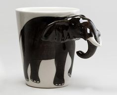 Adding a splash of fun to your morning beverage, our lifelike Elephant Mug is artfully handcrafted in Thailand of durable earthenware, exclusively for World Market. This unique and affordable piece delivers big smiles even before the coffee is poured. Elephant Mugs, Elephant Trunk, Elephant Love, Elephant Art, Elephant Stuff, Elephant Icon, Elephant Quotes, Elephant Keychain, Happy Elephant