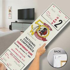 1987 NFC Championship Game Mega Ticket - Washington Redskins