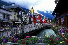 France, Alps, Haute-Savoie, Chamonix, Walk In The Town