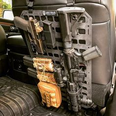 Grey Man Tactical Rigid MOLLE Panel Vehicle Seat Back Mount - Realty Worlds Tactical Gear Dark Art Relationship Goals Tactical Truck, Tactical Life, Edc Tactical, Weapon Storage, Gun Storage, Vehicle Storage, Car Holster, Holsters, Airsoft