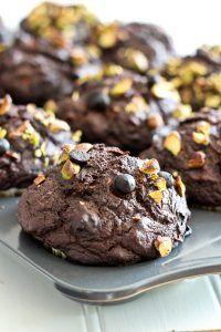 Pumpkin Zucchini Dark Chocolate Muffins   by Sonia! The Healthy Foodie