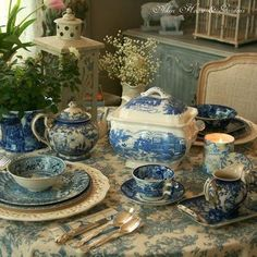 awesome collection!...love the blue toile
