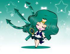 Chibi Sailor Neptune by Paprika-Studios.deviantart.com on @deviantART