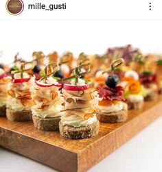 Catering Ideas, Canapes, Impreza, Party Snacks, Finger Foods, Tea Party, Cheesecake, Appetizers, Desserts