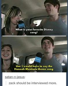 Zack needs to be interviewed more!!