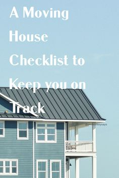 There are just so many things you need to consider when it comes to moving house and you absolutely need a move in house checklist to keep you on track and organised. This is the best way to help your house move go smoothly Moving House Checklist, Uk Lifestyle, Moving Day, Small Homes, Home Hacks, Home Renovation, Beautiful Homes, Track