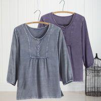 Silky Bib Front Shirt