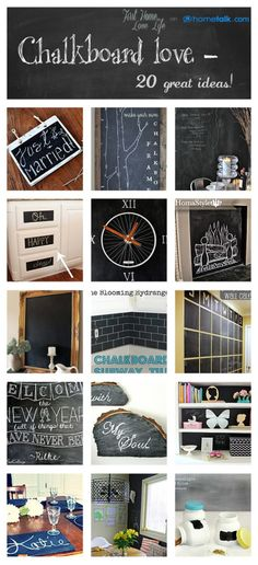 20 Amazing Chalkboard Paint Ideas-Inspired by the @Hometalk community!