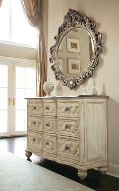 Oval Decorative Mirror | American Drew | Jessica McClintock Boutique Collection | Home Gallery Stores