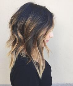 Black layered summer hairstyle 2016