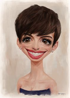 [ Anne Hathaway ] - artist: Nico DiMattia - website: http://nicodimattia.com/
