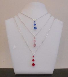 Drop Swarovski Pendant Tutorial  http://www.cutoutandkeep.net/projects/how-to-make-a-crystal-drop-necklace