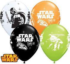"""Balon lateksowy 11"""" (29 cm) z nadrukiem kultowego filmu Gwiezdne Wojny."""