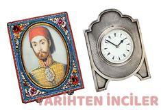 Sultan Abdülmecit'in resmiyle bir İngiliz Masa Saati