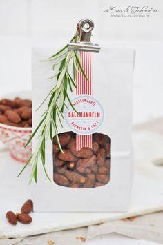 Salzmandeln mit Rosmarin & Chili {Rezept} & Verpackungsidee I Geschenke aus der Küche I homemade gifts I Casa di Falcone