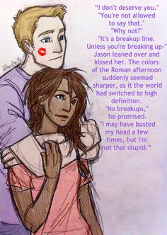 Burdge's art and a quote from Mark of Athena.  I love this edit