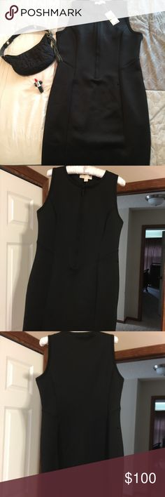 NWT black Michael Kors dress NWT black, sleeveless black Michael Kors dress size 14. The length of this dress falls right at the knees and the dress zips in the front. Perfect dress for upcoming holiday parties!! Bought at Macy's but is too cold to wear in Minnesota. Take this gem home for the holidays!!! ❤️❤️🎉🎉👗👗PRICE DROP FOR TONIGHT ONLY!!! Michael Kors Dresses Midi