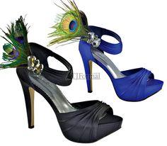 Peacock shoes! Aka bridesmaid shoes!!