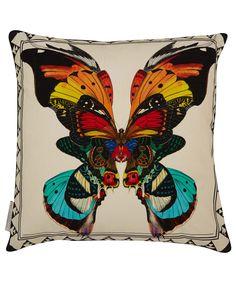 KRISTJANA S WILLIAMS STUDIO FIDRILDIN 02 PRINT CUSHION Butterfly Pillow, Butterfly Print, S Williams, Butterfly Decorations, Printed Cushions, Pillow Fight, Reclaimed Wood Furniture, Liberty Fabric, Cushion Fabric