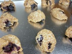 Fresh Blueberry Pup Pies. :)  I added 1/4C of chia seed also.