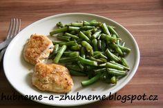 Dobroty od Adele :): Medové fazolky s kuřecím plátkem (232 kcal) Green Beans, Vegetables, Food, Diet, Essen, Vegetable Recipes, Meals, Yemek, Veggies