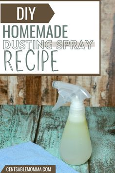 Just 3 simple ingredients needed to make your own homemade DIY Dusting Spray. It's a great way to save money on cleaning supplies. Spray Can, Ways To Save Money, Spring Cleaning, Cleaning Supplies, Homemade, Simple, Recipes, Diy, Gifts