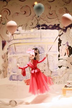 Dior x Printemps by puppet maker Jean-Claude Dehix and illustrations by Garance Wilkens