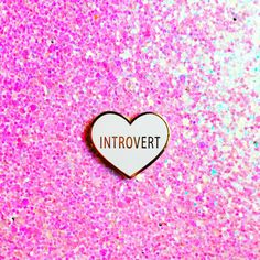 Introvert Hard Enamel Lapel Pin ($12) ❤ liked on Polyvore featuring jewelry, brooches, white enamel jewelry, pin brooch, heart jewelry, heart brooch and heart shaped jewelry