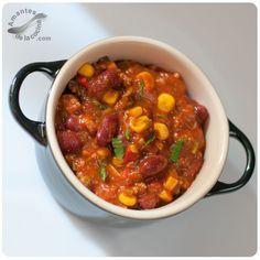 Chili con carne y maíz