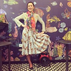 """Nice Fish restaurant in Paris yesterday where they had my wallpaper on the wall!!(published by Domestic)""""Le verre volé sur Mer"""" 53 rue de Lancry, 75010. We were the first customers so i could take a funny picture!"""