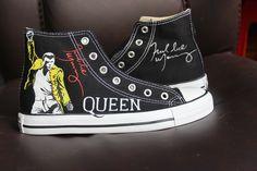 Freddie Mercury High Top Converse Shoes Custom Converse Painted