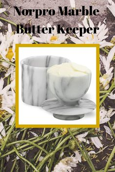 Norpro Marble Butter Keeper naturally keeps butter cool and fresh for up to 30 days without refrigeration. Adding a little water seals out air keeping butter spreadable. A neat old-fashioned gift for mom. #mothersday