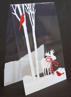 Marjoleine's blog: Transparante kaart met eland maken tijdens de aanschuifworkshop van 4 en 5 september