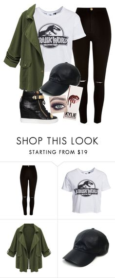 """""""Kylie Visits Jurassic Park"""" by avamancuso ❤ liked on Polyvore featuring River Island, New Look, Vianel, Giuseppe Zanotti and Tuttle"""