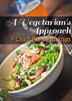 Vegetarian craft beer pairings - great stuff in here!! The recipes themselves look awesome too: seitan pot pie, vegan hawaiian pizza, fire-roasted corn chowder, BBQ seitan with slaw. Too many good ideas!