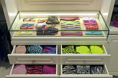 Khloé Kardashian's Fitness - Kardashian Nike Workout Clothes Custom Workout Closet Display Case and Drawers