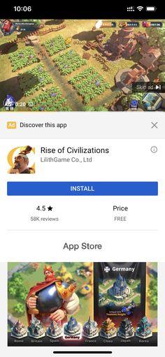 YouTube Native Ad Free App Store, Native Design, Clash Of Clans, Civilization, Nativity, Britain, Rome, Free Apps, Spain