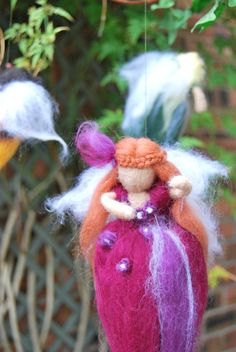 Neddle felted fairy