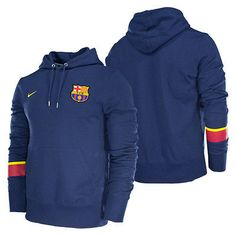 NIKE FC BARCELONA CORE HOODIE 2012/13 MIDNIGHT NAVY. Fc Barcelona, Messi, Hoodies, Sweatshirts, Online Price, Core, Soccer, Navy, Sweaters